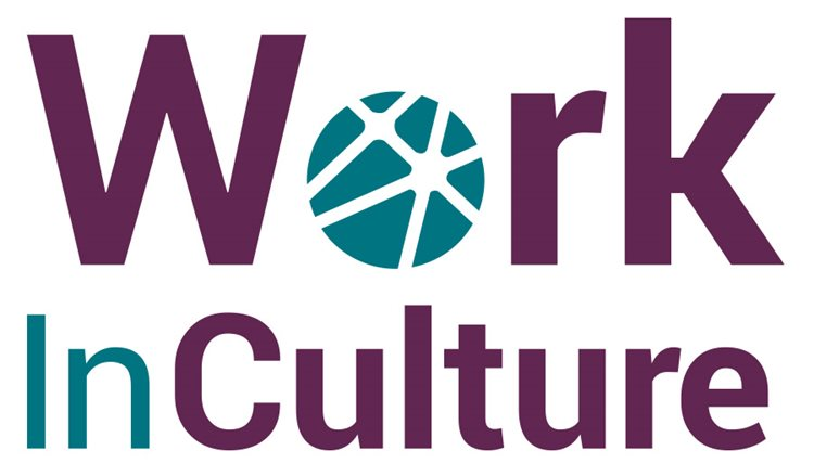 New WorkInCulture logo with circular icon and connecting lines
