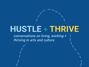 hustle and thrive logo